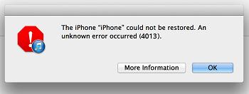 iTunes Fehler 4013