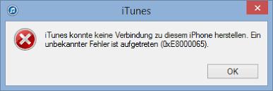 iTunes Fehler 0xe8000015