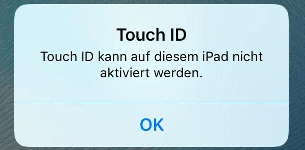 Touch ID kann auf diesem iPhone nicht aktiviert werden