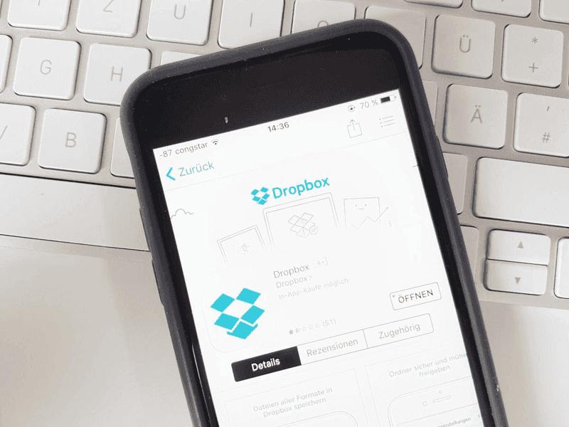 Dropbox auf iPhone beenden