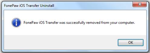 Fonepaw ios Transfer erfolgreich entfernen
