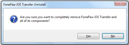 Fonepaw ios Transfer entfernen