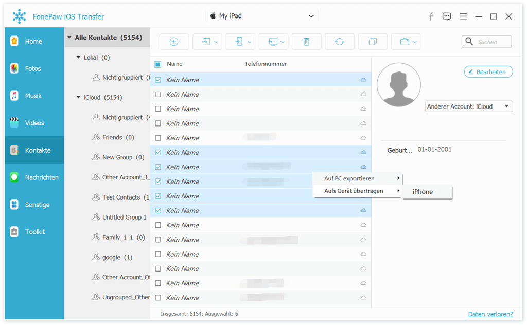kontakte-von-igeraete-importieren