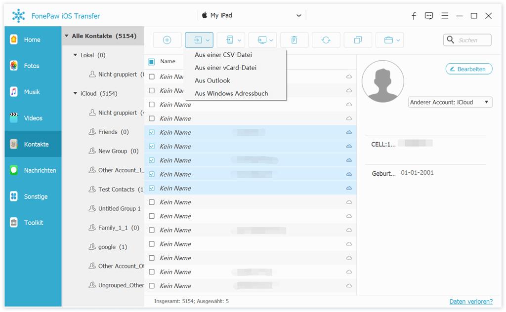 kontakte-von-pc-importieren