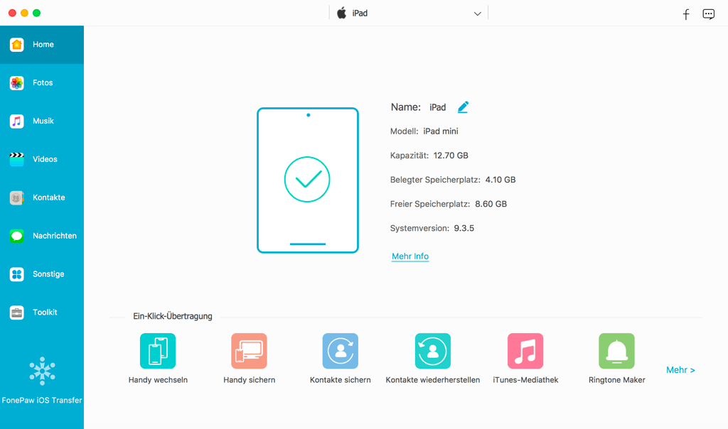 iPad mit Mac verbinden