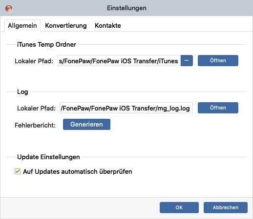 Log Datei generieren