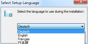 Sprache waehlen