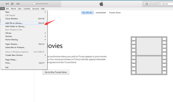 Videos vom Computer auf iTunes hinzufügen