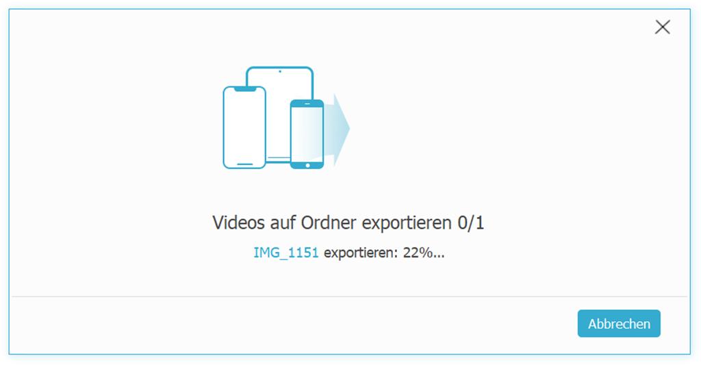 iPhone-Videos auf den Computer exportieren