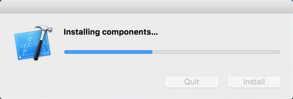 Xcode Komponenten installieren