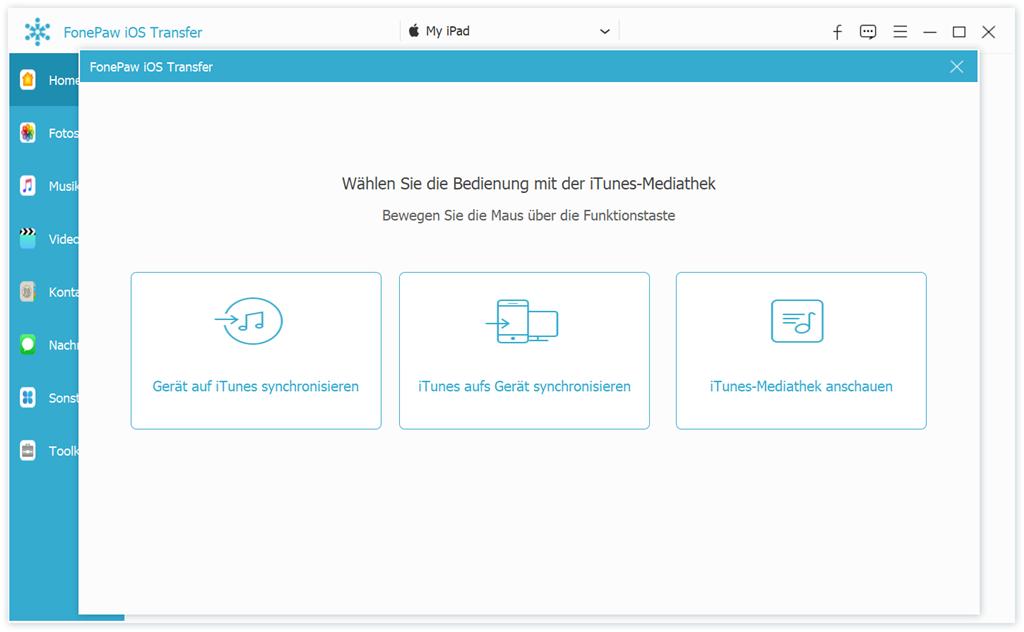 iPad Daten zu iTunes kopieren