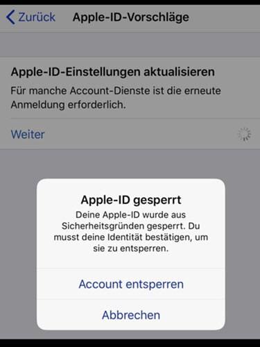 Apple-ID gesperrt