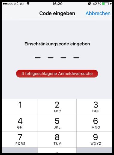 iPhone-Einschränkungscode vergessen