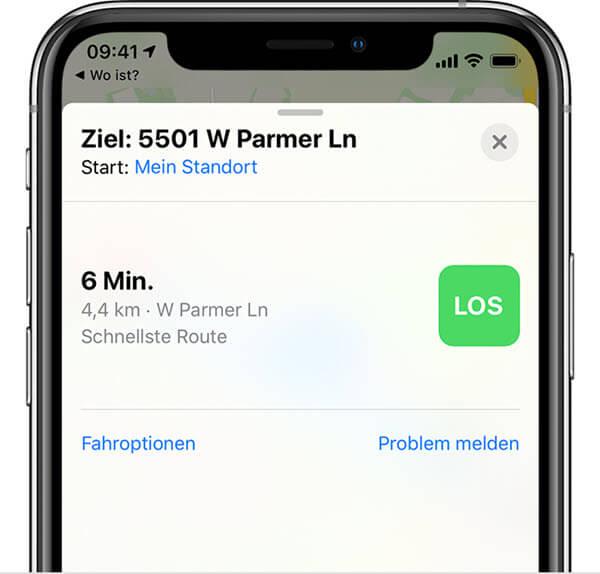 Route berechnen iPhone gestohlen