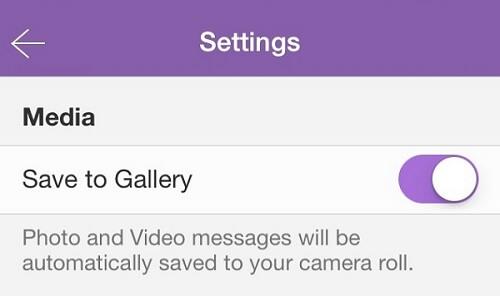 Automatisch Viber Fotos speichern