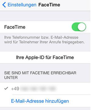 FaceTime-Verlauf nicht auf dem anderen iPhone angezeigt