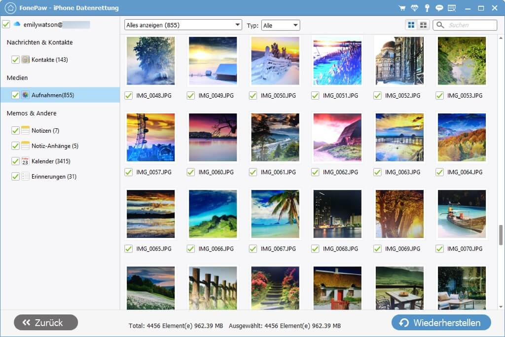 Alte iCloud Fotos laden
