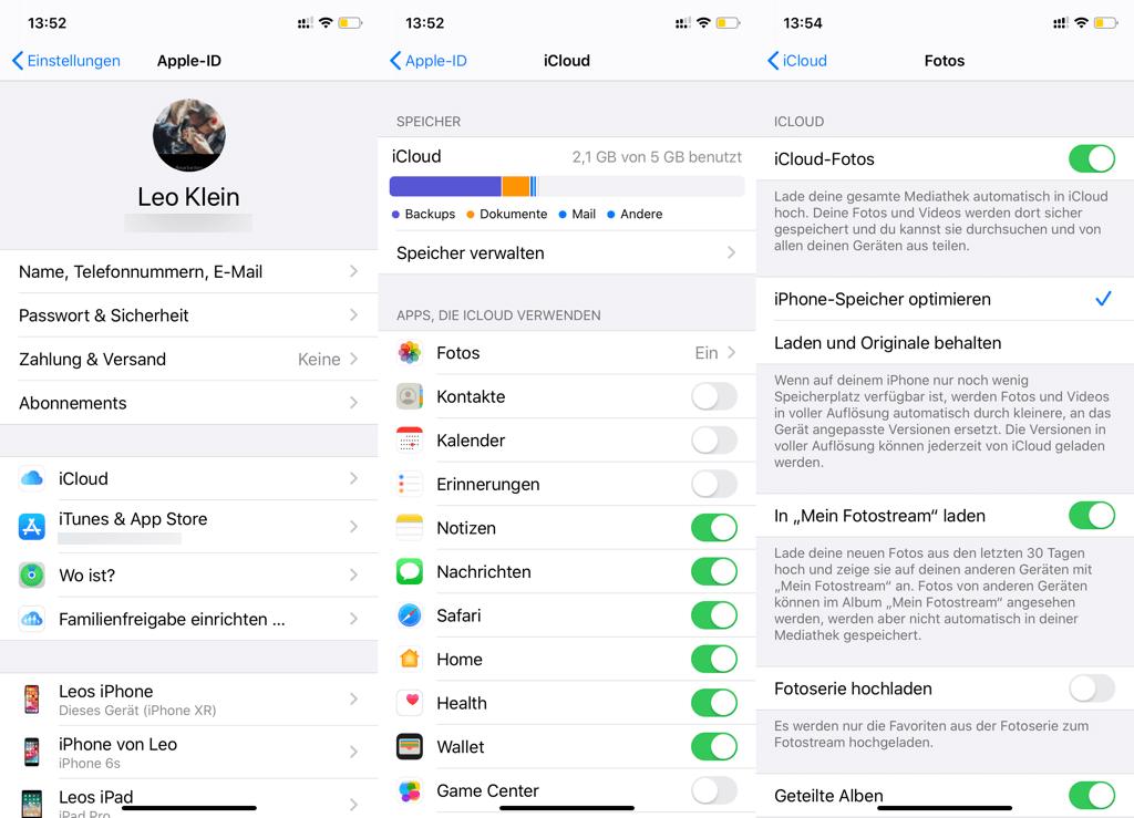 iCloud Fotos auf iPhone aktivieren