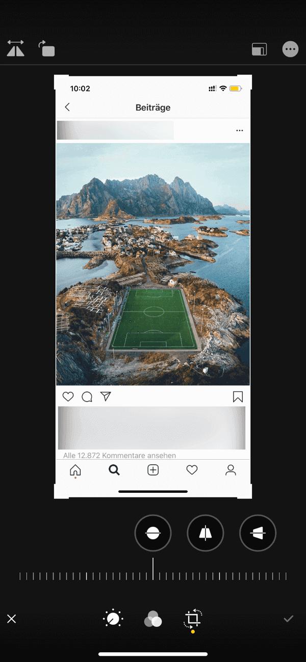 Instagram Foto speichern per Screenshot