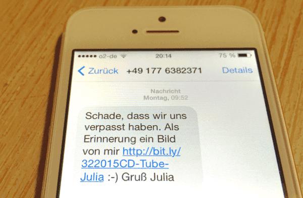 iPhone Spam Nachrichten