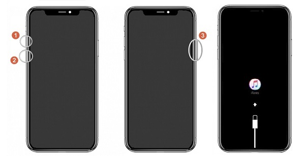iPhone X/XS/XR in Wiederherstellungsmodus Modus versetzen