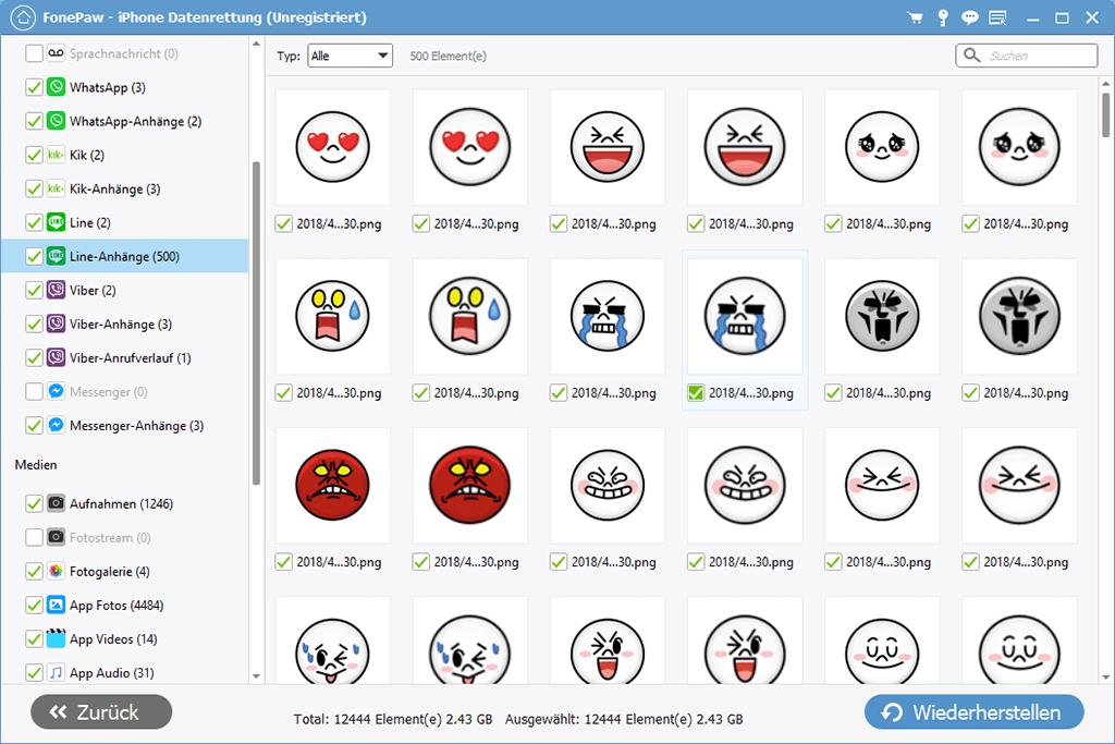 Line Chat Anhänge wiederherstellen