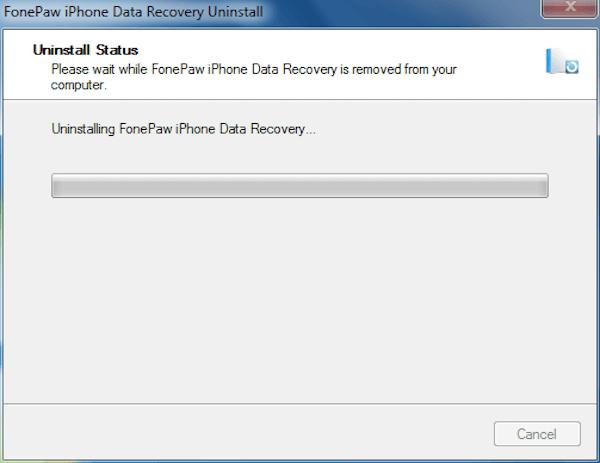 Fonepaw iPhone Datenrettung deinstallieren