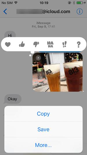 Speichern Fotos direkt aus iMessages