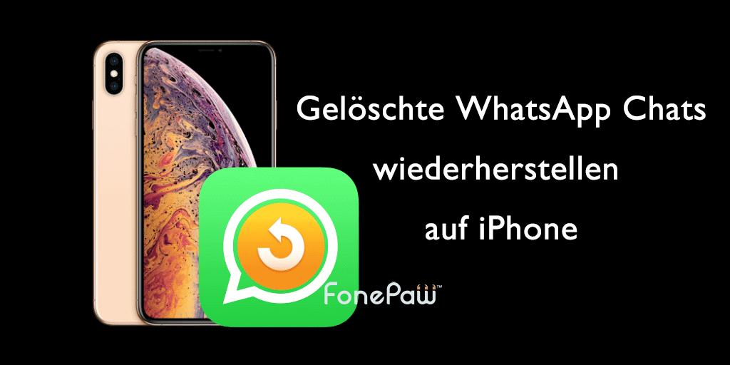 WhatsApp Chatverlauf wiederherstellen auf iPhone