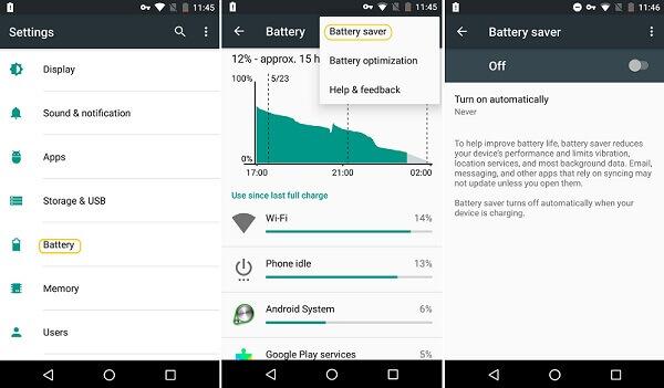 Akku-Sparer auf Android deaktivieren