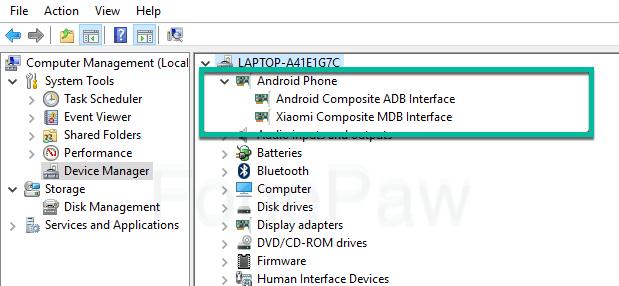 Android Composite ADB Interface neu installieren