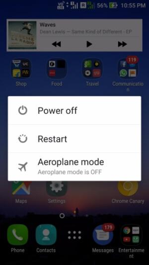 Android Handy neustarten