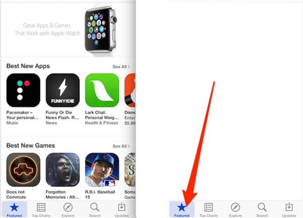 App Store manuell auffrischen