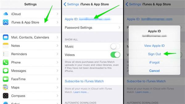Apple ID abmelden und einmelden