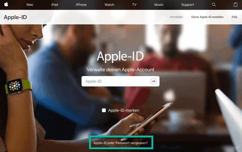 Apple ID Passwort vergessen