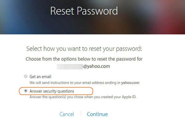 Per Sicherheitsfragen Apple-ID-Passwort zurücksetzen