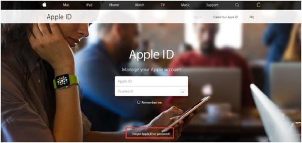 Apple-ID Webseite