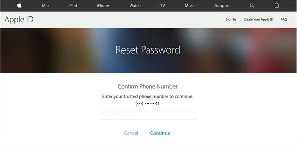 Per Zwei-Faktor-Authentifizierung Apple-ID-Passwort zurücksetzen