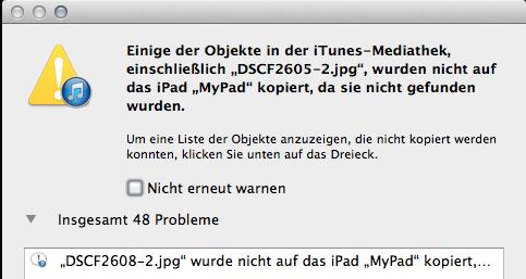 Apple Music kann nicht die Musikdateien auf iPod kopieren