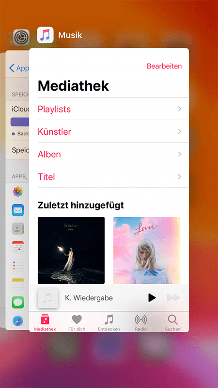 Apple Music schließen