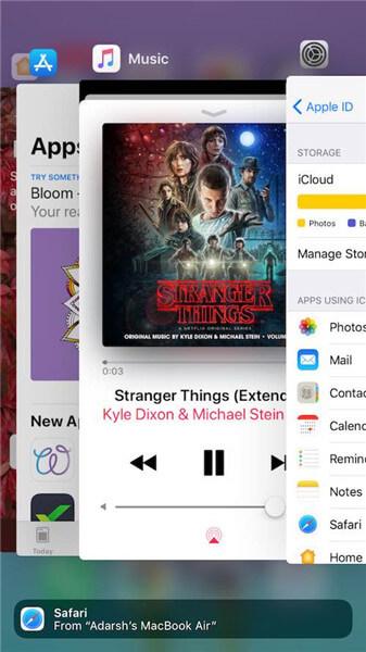 Apps im Hintergrund