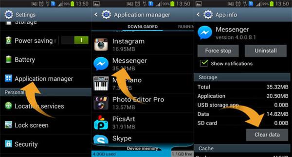 Cache auf Android löschen