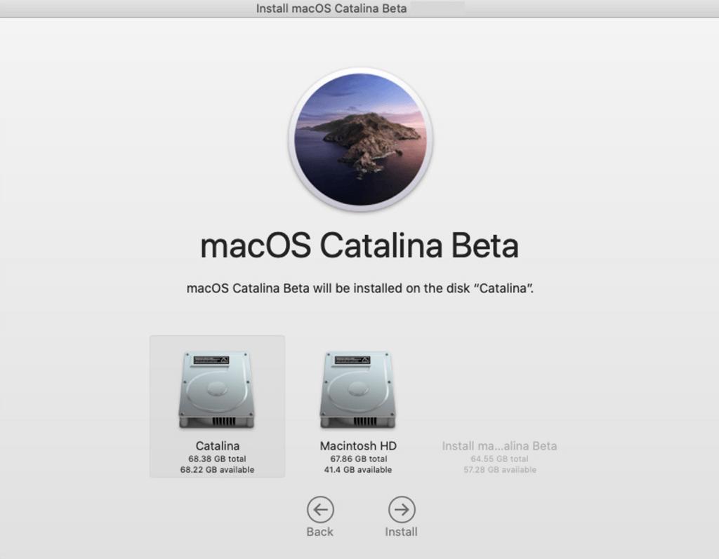 Catalina Beta sauber installieren