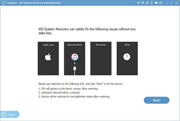 Einleitung von iOS systemwiederherstellung