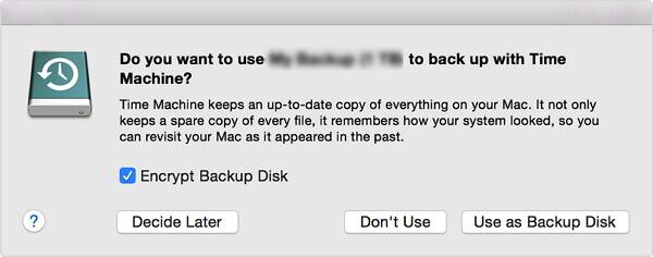 externe Festplatte mit Time Machine