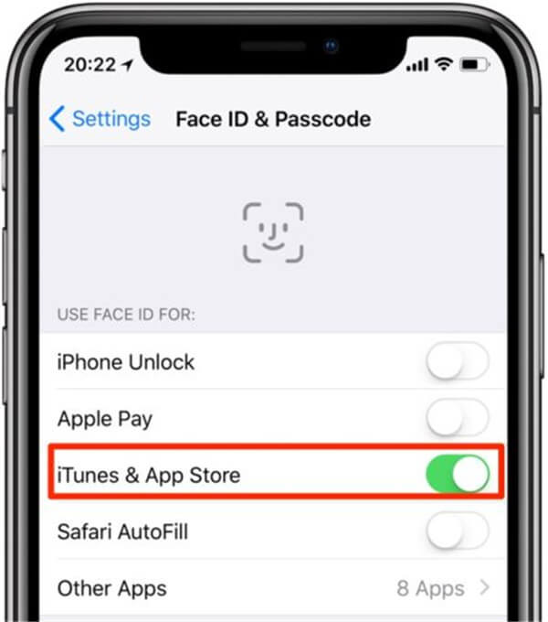 Apple Face ID ermächtigen