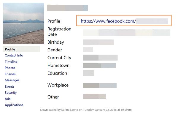 Facebook-Profil öffnen