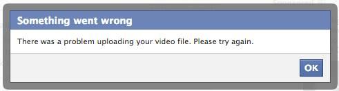 Facebook-Video hochladen geht nicht