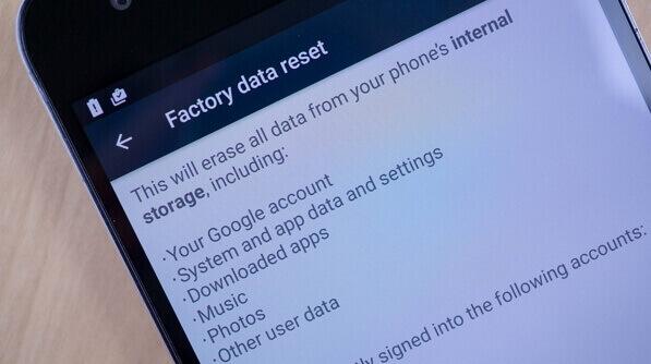 Factory-Reset und Daten löschen