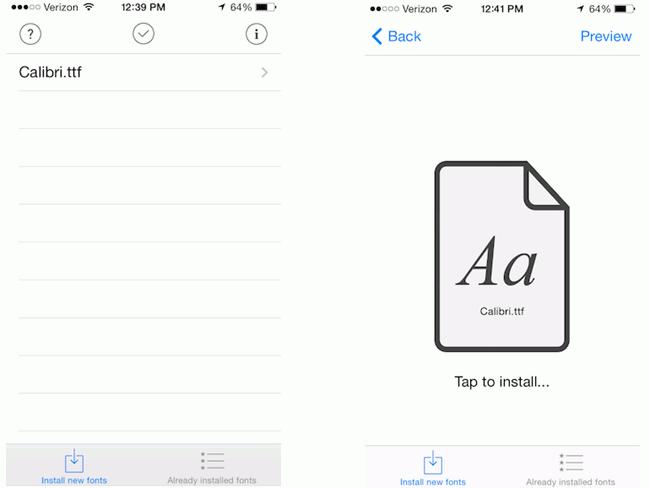 Fonts an AnyFont installieren